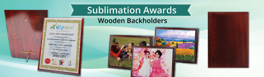 Supply wooden frames & back holders. Print your picture, award, welcome message on aluminium board, and stick it on wooden frames or back holders as souvenirs.