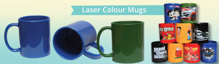 <p>With laser transfer mugs, you can print your colourful artwork, logo or text on a full colour mugs at no MOQ required & expand your mug printing business now!</p>