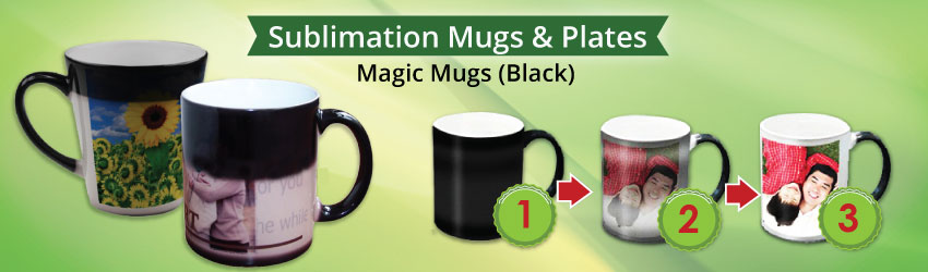 Supply sublimation magic mugs or colour changing mug for sublimation mug printing business in Msia. Give mug gifts with surprises. More colours. Ready stocks.