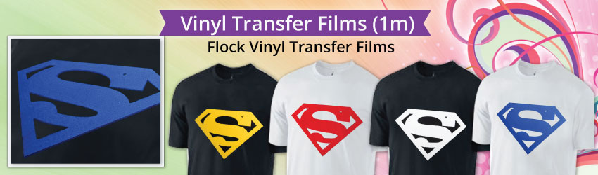 Flock Vinyl Transfer Film adds perceived value to logos, numbers, letters and designs.  It provides the 3-dimensional look and feel of soft velvet in Malaysia.