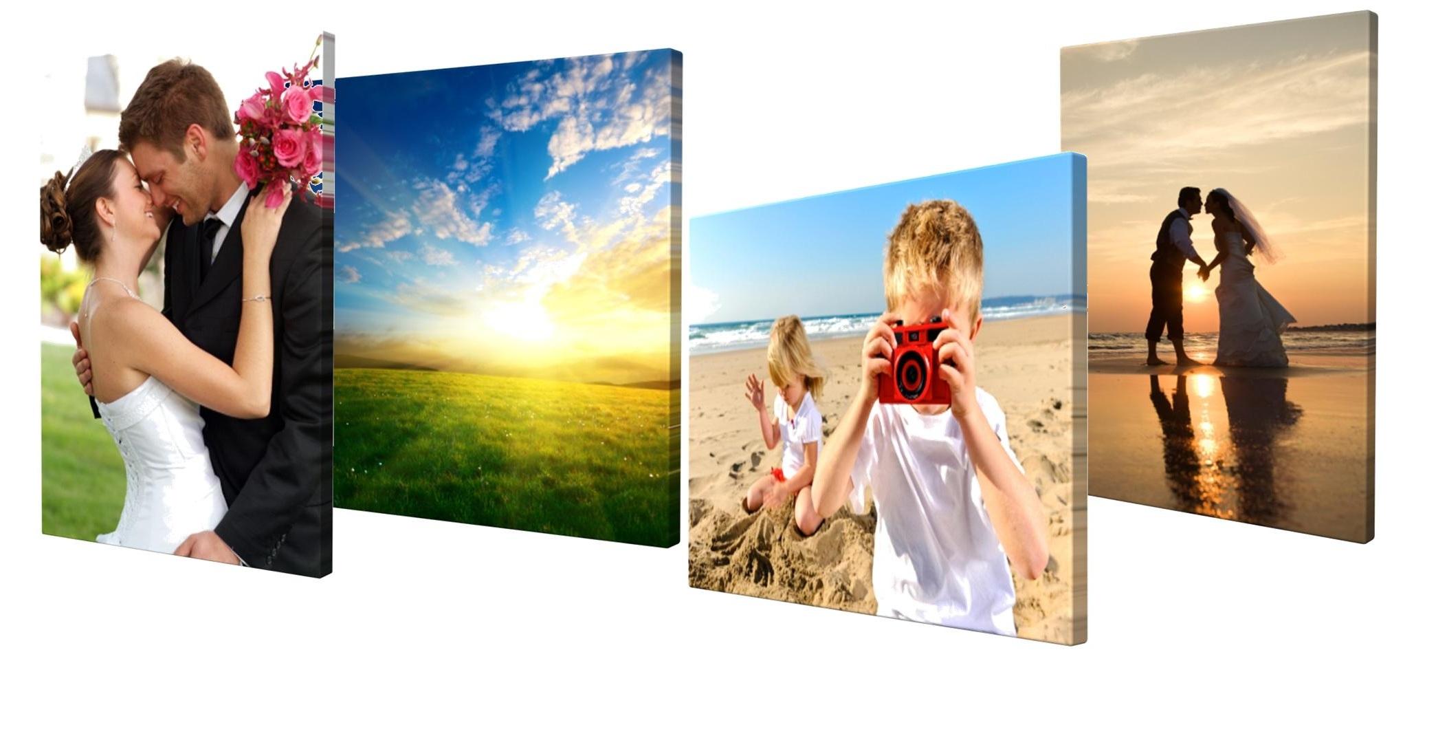 Printing on photos canvas
