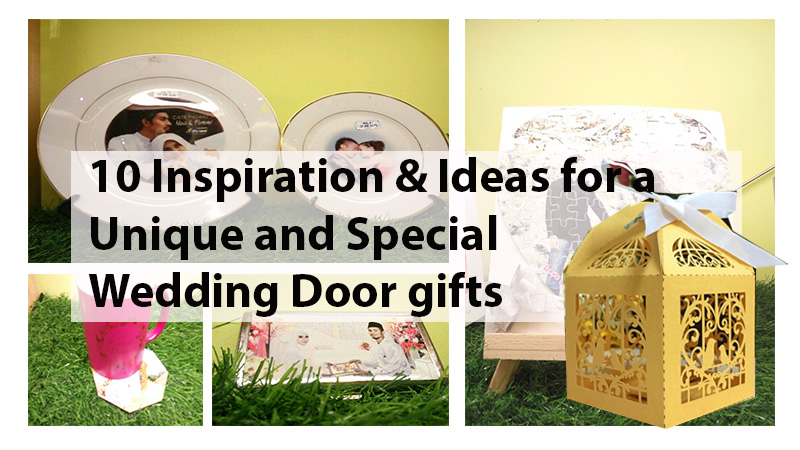 12 Inspiration and Ideas for a Unique and Special wedding Door gifts