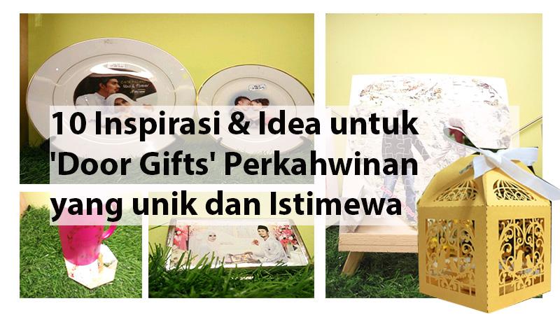 12 Inspirasi dan Idea untuk 'Door Gifts' Perkahwinan yang unik dan Istimewa