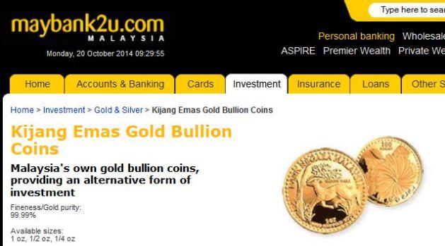 pelaburan emas Maybank